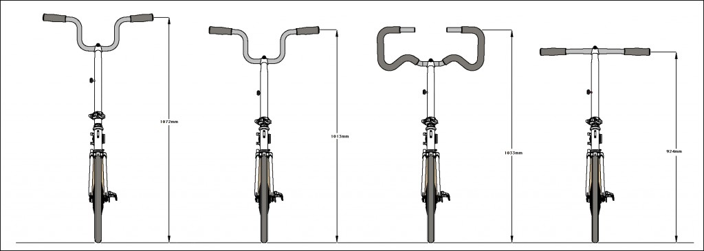 Brompton tuning Barcelona Capproblema types handlebars front