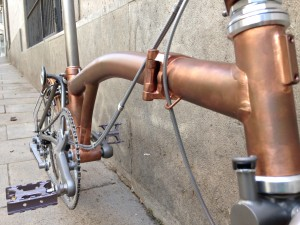 Brompton tuning - CapProblema - Barcelona - Raw copper nº 5 (1)