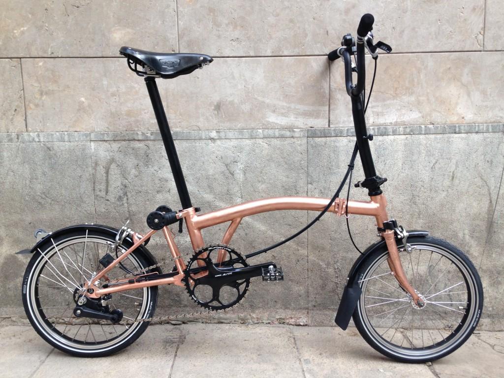Brompton tuning - Raw copper - Barcelona - CapProblema - All copper (1)