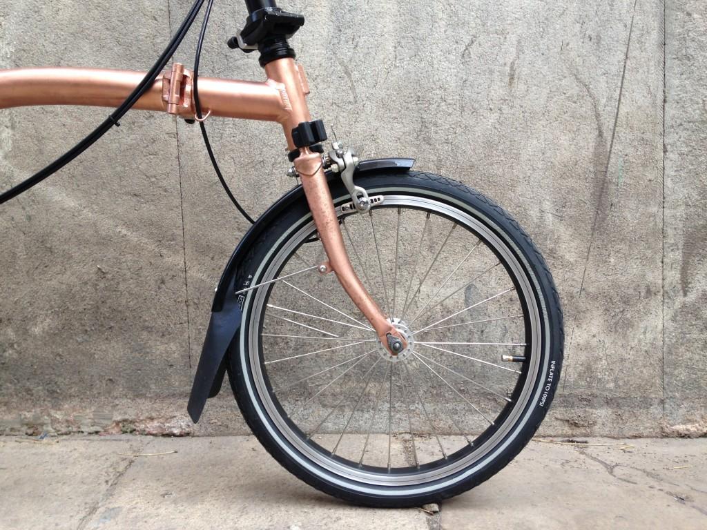 Brompton tuning - Raw copper - Barcelona - CapProblema - All copper (3)