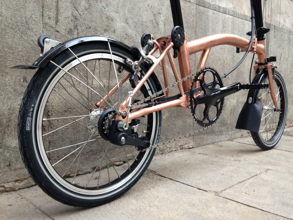 Brompton tuning - Raw copper - Barcelona - CapProblema - All copper (4)